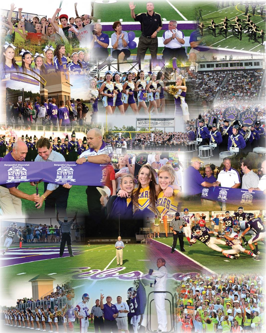 Inaugural Game Collage of photos